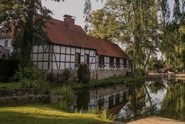 Mühlenteich im Ortskern von Brochterbeck