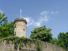 Wierturm über den Mauern von Tecklenburg